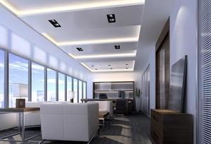 200平米轻快办公室室内飘窗设计装修效果图