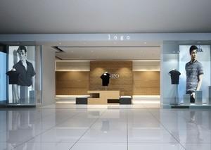 69平米轻快服装店店面背景墙装修效果图