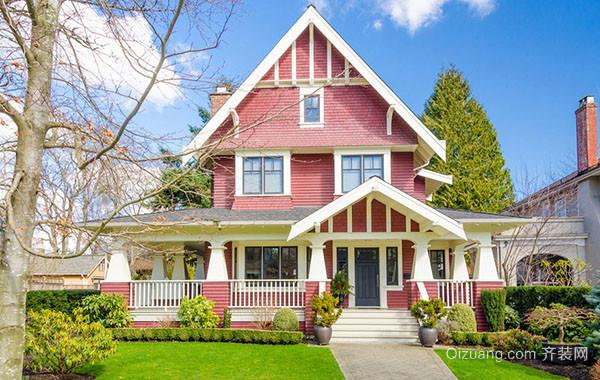 北美风情农村别墅自建别墅整体设计图赏析