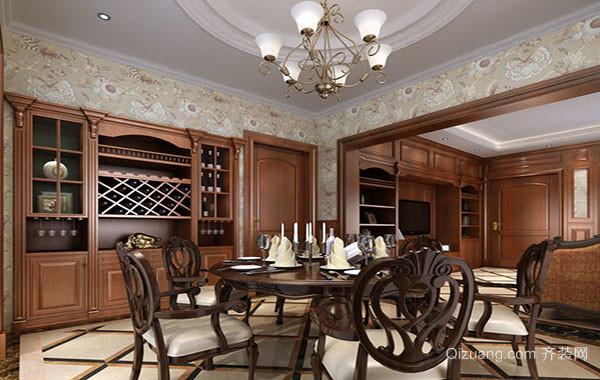 欧式风格精致别墅餐厅装修效果图实例