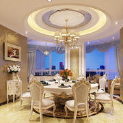 欧式风格精致别墅餐厅装修效果图