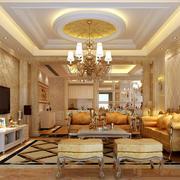 美式风格客厅整体效果图