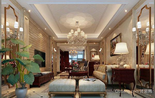 美式风格别墅客厅装修设计图赏析