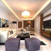 简约美式客厅效果图
