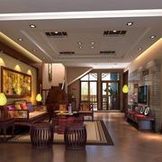 现代中式风格精致客厅装修效果图