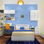 蓝色背景儿童房效果图