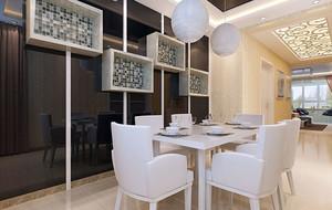 现代简约风格餐厅背景墙装修效果图赏析