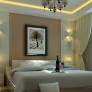 后现代风格卧室背景墙装修效果图