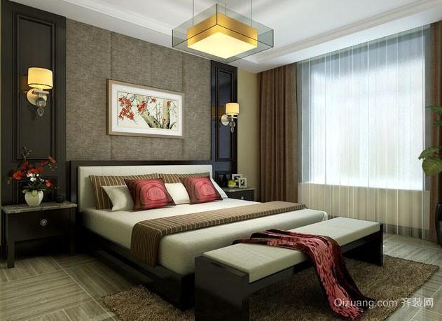 小户型简约精致卧室背景墙装修效果图