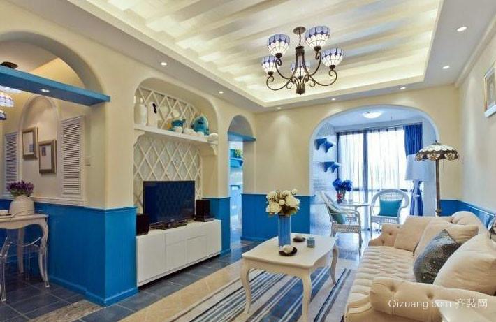 地中海风格客厅整体装修效果图