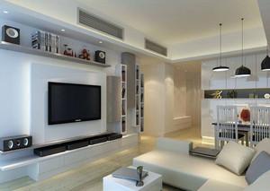 现代风格简约客厅电视背景墙装修效果图