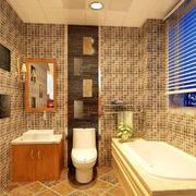 卫生间精致瓷砖效果图