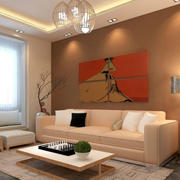 现代风格简约自然客厅装修设计图