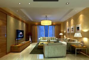 温暖橘色宜家客厅装修效果图