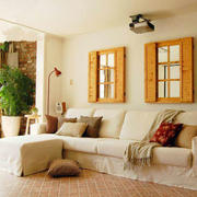小户型10平米现代田园风格客厅装修效果图