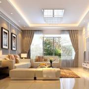 120平米欧式大户型客厅装修效果图实例