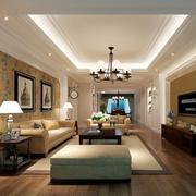 2016欧式风格大户型客厅室内装修效果图