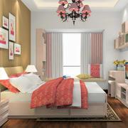 自然朴素卧室吊灯装修