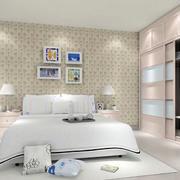 小清新卧室背景墙效果图