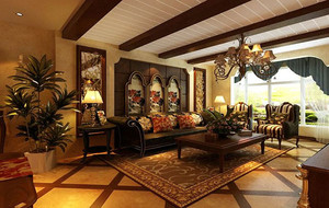 东南亚风格客厅整体设计图鉴赏