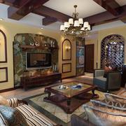 东南亚客厅装修效果图