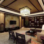 东南亚客厅整体效果图