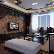 东南亚风格客厅背景墙效果图