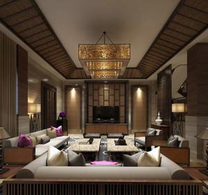 200平米别墅东南亚风格客厅装修效果图