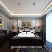 美式田园风格小卧室装修效果图