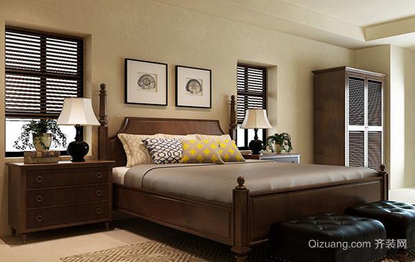 现代美式风格精致卧室装修效果图
