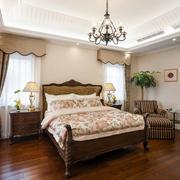 欧式田园风格温馨卧室装修效果图