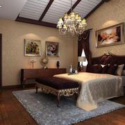 美式创意卧室吊灯效果图