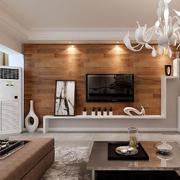 100平米欧式客厅电视背景墙装修效果图