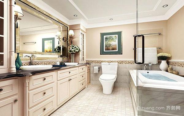 美式风格宜家别墅卫生间整体装修效果图