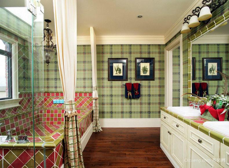 复古美式风格卫生间装修效果图