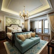 现代法式风格卧室装修效果图