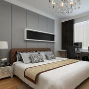 小户型现代简约卧室背景墙装修效果图欣赏