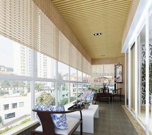 100平米精致的现代阳台装修设计效果图