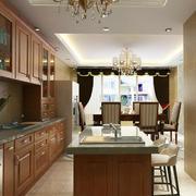 2016别墅型欧式风格厨房室内装修效果图