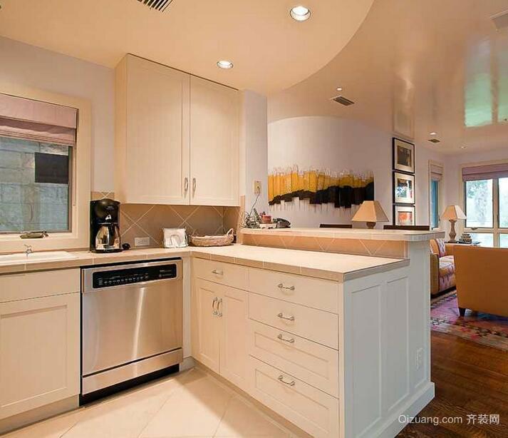 小户型欧式风格精致厨房吊顶装修效果图