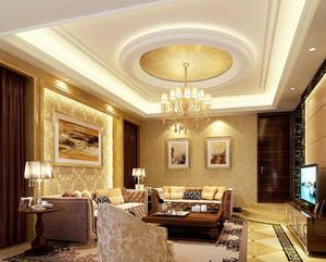 100平米别墅型欧式风格客厅背景墙装修效果图