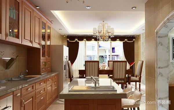 120平米别墅欧式厨房室内吊顶设计装修效果图
