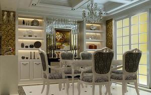 别墅型欧式风格餐厅室内吊顶装修效果图