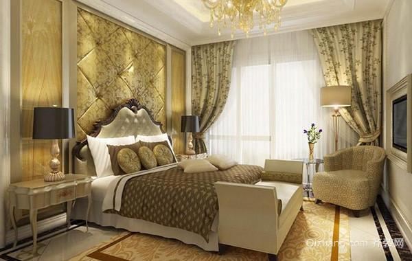 2016大户型欧式卧室背景墙装修效果图实例