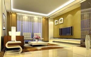 别墅型欧式风格电视背景墙装修效果图
