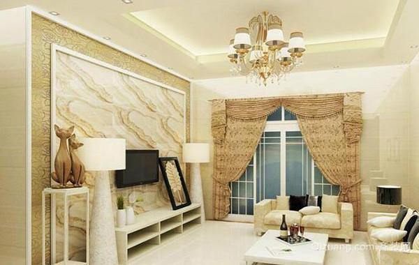 2016大户型欧式客厅室内吊顶设计装修效果图