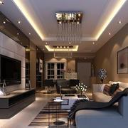 90平米欧式风格时尚客厅设计装修效果图