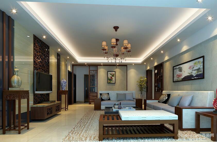 2016欧式风格别墅客厅室内设计装修效果图