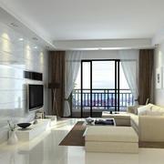 2016简欧小户型客厅室内装修设计效果图