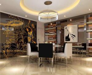 110平米欧式风格餐厅设计装修效果图